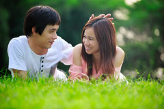 Couple of lovers laying donw in park (Patrick Foto ;)) Tags: park old family summer two portrait people woman man male men green love nature beautiful smile grass smiling female garden asian fun thailand outside outdoors happy person togetherness countryside spring women couple pretty looking adult bangkok young relaxing handsome lifestyle happiness down romance relationship together attractive romantic leisure years relaxation lying laying