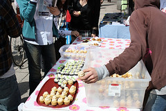 Earth Day 2009 (liberationbc) Tags: vancouver cupcakes vegan environment activism environmentalism climatechange outreach globalwarming earthday liberationbc