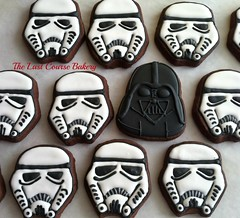 Darth Vader and Storm Troopers (The Last Course Bakery) Tags: birthday cookies dark movie star side troopers darth wars vader decorated