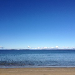 Weather report from Lauderdale, Tasmania: Blue. #nofilter (varrqnuht) Tags: square squareformat iphoneography instagramapp uploaded:by=instagram foursquare:venue=4db2d3e681543d71da2202d6
