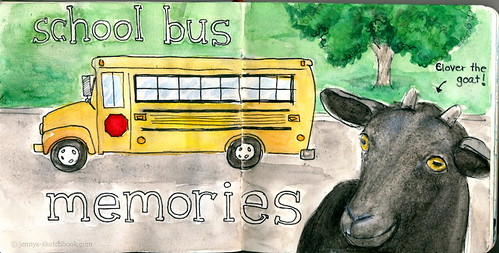 School Bus Memories... and a Goat