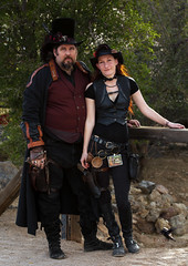 Steampunk - On Main Street 521 (thePhotographerRaVen) Tags: arizona tucson fantasy wildwest steampunk oldtucson wwwc photosbyraven wwwc5