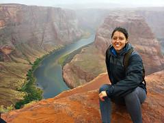 Horseshoe Bend and Me (grazielera) Tags: horseshoebend horseshoe page pageaz az arizona coloradoriver horseshoebendandrain