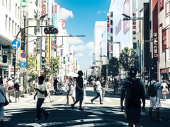 Summer street (taketan (Takeshi Tanaka)) Tags: tokyo japan shinjuku summer street sky cloud