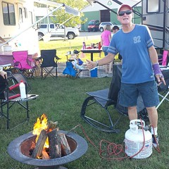 My dad lighting the fire with a propane torch. #letsgetyoufree #kids #familyfirst #lovemyfamily #grateful #happy (garry21) Tags: my dad lighting fire with propane torch letsgetyoufree kids familyfirst lovemyfamily grateful happy
