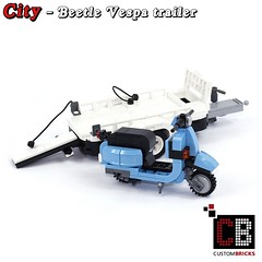 LEGO_Custom_VW_Beetle_10252_Vespa_CB03 (LA-Design2012) Tags: lego custom moc city creator expert beetle 10252 custombricks trailer anhnger vespa roller