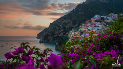 Positano || Amalfi Coast, Italy (anoopbrar) Tags: positano amalficoast amalfi italy tourism landscape city seascape twilight sunset sunrise bluehour surreal hidden clouds fiery art landcapephotography nature outdoor towns vacation seascapes travel travelphotography water artistic cities night long exposure longexposure reflections foreground dusk citylights architecture buildings urban