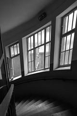 Ventanas al patio (Jo March11) Tags: viena vienna wien austria sterreich escalera patio ventanas luz artdco secession arquitectura blancoynegro monocromo monocromtico ieletxigerra idoiaeletxigerra eletxigerra canon canoneos bajada