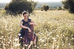 Louise (Anas Nannini) Tags: dress julietteflambard music musician violoncelle nature cello jura dole franchecomt flowers woman portrait mode