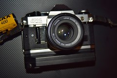 Canon AE-1 Program | Canon Lens FD 50mm 1 : 1 . 8 | 35mm film slr | Canon Power Winder A2 (alfiegeephotography) Tags: canonpowerwindera2 canonlensfd50mm118 canonae1program cameraporn