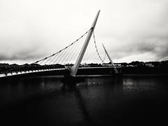 Peace Bridge (lgebelin) Tags: bw blackandwhite peacebridge bridge mono monochrome derry londonderry northernireland britain