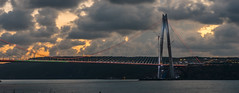 UMT_7723-2 (UmitCukurel) Tags: bridge turkey istanbul bosphorus sony nikon lightroom d750 sonyalpha bogazici kopru night poyrazkoy battleship gemi sky sunset dusk gunbatimi cloud