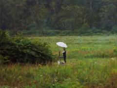 Plein Air Painter (Professor Bop) Tags: professorbop drjazz olympusem1 waitsfieldvermont pleinair pleinairpaintout painter artist field rain impressionism