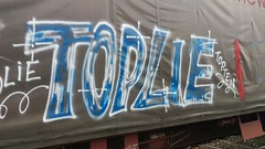 Toplie (keeskia) Tags: graffeur graff graffiti tag tagger tagueur toplie topten tepio train transport baché wagondemarchandise wagon fret voieferrée rails sncf france rhonealpes loire