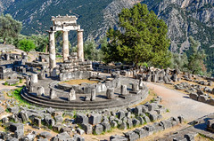 (Voyages Lambert) Tags: antique prophet protection past spirituality ancient delphi greece mountainrange mountain column temple sainted saintly mountainsite sacredsite