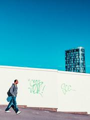 Colour Blocks (Sheffield_Streets) Tags: danscape autumn blue tetrisbuilding strideby whitehoarding striding sheffield sheffieldstreets