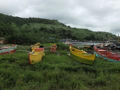 Boats in Bataan (brand_D) Tags: fujifilm x20 bataan philippines islands boats fishing yard green yellow trees hill dock wire