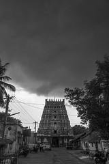 Nachiyar Kovil @ Thirunarayur near Kumbakonam (Yesmk Photography) Tags: hindu vaishnav vishnu perumal nachiyarkoil thirunaraiyur clouds temple tower street muthukumar yesmkphotography outdoor daylight olympus xz1 india tamilnadu kumbakonam