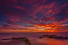 Fire Sky 1 (marcusbird13) Tags: ocean water usa san diego la jolla red sea landscape oceanscape