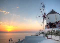 Sunset in Santorini Island (nuranaaba) Tags: island sunset sea ship landscape nature exotica people photography picture image greece shot coast rock mountain mediterranean