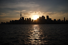 The City at Sunset (Andrei.P) Tags: 500pxcruise 6ix buildings canada city cityscape cruise events genre lake lakeontario ontario party places scenery snapshot sunset thesix toronto travel