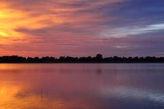 IMG_5950 (Light from Light) Tags: sunrise water orange sky clouds canong12 colorado boydlake