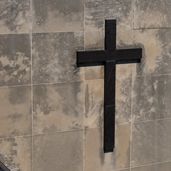 Cross (Vail Marston) Tags: ruined urbex distressed hospital building indiana medicalcenter landmark gary stmarys 2016 structure stmarysmercy hdr urban abandoned mercy stonework stone 6thavenue northwestfamily dilapidated architecture cross sign tylerstreet decay metal