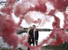 Love Potion (veldreannija) Tags: love potion art annija annijaveldre artist autumn air selfportrait sky smoke pink clouds couple fineart fineartphotography