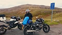 Top of Applecross pass (urbannivag) Tags: northcoast500 scotland adv triumph speedtriple motoguzzi v7 motorbikes adventure touring