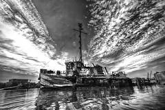 Graveyard of Ships Staten Island New York (Chip Renner) Tags: hdr efix statenisland newyork newjersey shipwreck blackwhite bw high contrast highcontrast killvankul killvankull