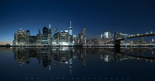 Manhattan by Night, New York City, USA