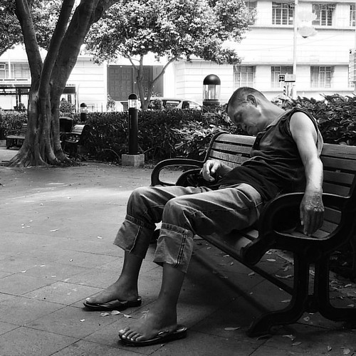😟 #homeless #poor #macau #park