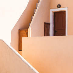 Oia Impressions #2 (One_Penny) Tags: aegean greece griechenland island santorin santorini canon6d travel oia thira house building architecture pastel color stairs door lines shapes geometry square composition light shadow wall mediterranean squarecrop squareformat design architectural