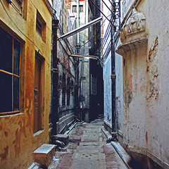 alley, old city, lahore (Maryam Arif) Tags: lahore alley oldcity light shadow street perspective composition contrast maryamarif photography architecture visualart space darkness depth levels
