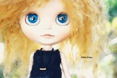 Blue eyes, golden hair (mademoiselleblythe) Tags: zaloa custom blythe doll