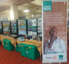 Shelterbox at Rotary District 1040 Conference 2016  The Spa Scarborough Yorkshire (woodytyke) Tags: woodytyke stephen woodcock photo photograph camera foto photography best picture composition digital phone colour flickr image photographer light publish print buy free licence book magazine website blog instagram facebook commercial 1220 1040 1270 wakefield barnsley yorkshire normanton rotary district shelterbox green box charity scouts school fundraising international disaster relief club donation ribi rockley speaker talk demonstration lincolnshire north south east riding tent display event