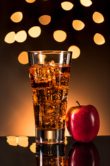 Sparkling Apple Cider (Muhammad Al-Qatam) Tags: nikon d810 malqatam alqatam muhammadalqatam kuwait sparkling apple cider juice food drink bokeh reflection product
