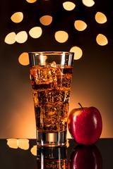 Sparkling Apple Cider (Muhammad Al-Qatam) Tags: nikon d810 malqatam alqatam muhammadalqatam kuwait sparkling apple cider juice food drink bokeh reflection product