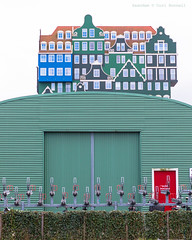 Up on the roof (farflungistan) Tags: zaandam green architecture dutcharchitecture cityscape modernarchitecture amsterdamdaytrip fall2016 canon2016 noord noordholland