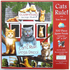 Cats Rule! (Tom Wood) (Leonisha) Tags: puzzle jigsawpuzzle puzzleschachtel puzzlebox