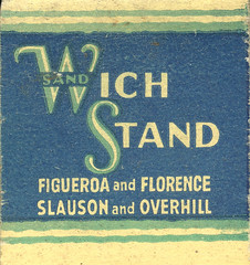 Wich Stand (jericl cat) Tags: matches matchbook match illustration vintage losangeles paper ephemera restaurant dining cocktail wich stand figueroa florence slauson overhill drivein