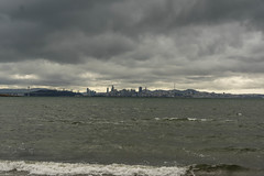 Clouds over the City (swedg) Tags: city sanfrancisco san francisco bay waves water clouds storm skyline view panorama albany
