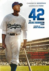 42:  the Jackie Robinson Story (Vernon Barford School Library) Tags: 883929326570 42 jackierobinson jackie robinson baseball sports athlete athletes baseballplayers africanamerican africanamericans discrimination featurefilms movies dvd racism racerelations usa unitedstates unitedstatesofamerica us sportsfilms films biography biographies biographical video videos vernon barford library libraries new recent film junior high middle school covers cover videocase videocases dvds dvdcase chadwick boseman harrison ford drama dramas dvdcases fiction fictional movie brianhelgeland thomastull brian helgeland thomas tull chadwickboseman harrisonford motionpicture motionpictures