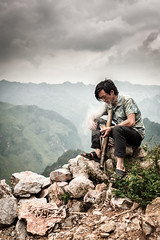 Just a puff (Asian Hideaways Photography) Tags: asia asian ethnic exterior people travel travelphotography sky vietnam southeastasia hagiang hmong candid vietnamese naturallight smoke smoker pipe waterpipe