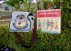 IMG_9116 (danimaniacs) Tags: yardsale stuff bag tote lp album