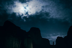 Full Moon over Meteora (Soupmeister) Tags: greece thessaly meteora    moon clouds rocks