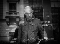 man_bookstore (Erwin Vindl) Tags: books streetphotography streettogs candid blackandwhite bw monochrome shopwindow innsbruck erwinvindl olympusomd em10markii