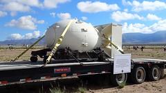 TrinitySiteNHL- Fat Man Plutonium Bomb Casing (Wanderlust Dreamer) Tags: newmexico whitesandsmisslerangenm trinitytestsitenewmexico nagasakijapan fatmanbomb atomicbomb firstatomicbombtest trinitysitenationalhistoricallandmark