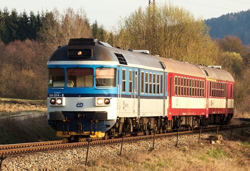 ČD 854.014+Bdtn+ABfbdtn, SP 1958 - POTŠTEJN - CZECH REPUBLIC