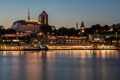 Hamburg - Landungsbrcken at Night (superbart77) Tags: bismarck boat ciy dusk elbe hdr hafen hamburg harbour night river ship sunset cityscape pier landungsbrcken
